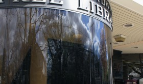 picture of the front of the library