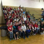 Chatham Park Chorus sings National Anthem at HHS Boys Basketball Game
