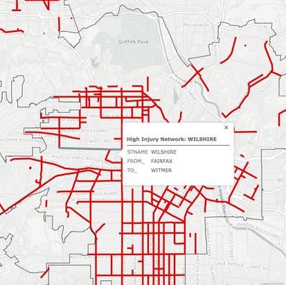 LA accident map