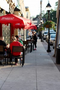 Outside dining on Brookline