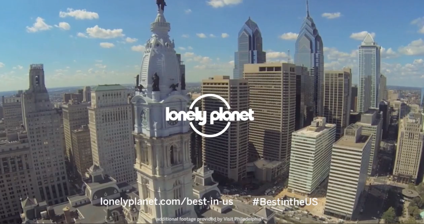 Video still from the Philly lonely planet video