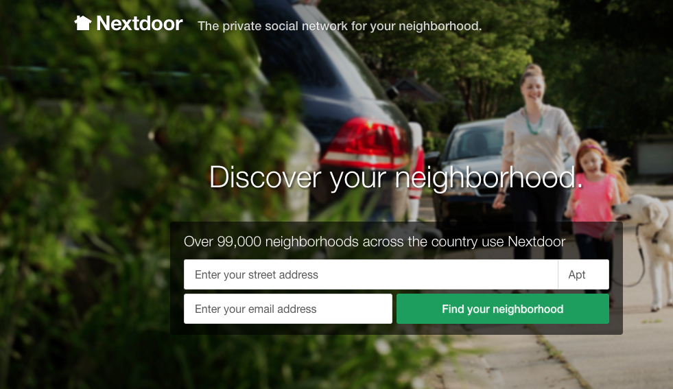 Nextdoor home page graphic