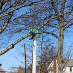 a picture of the road sign at the corner of Devon and Canterbury roads in Haverford Township