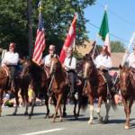 color guard on horseback